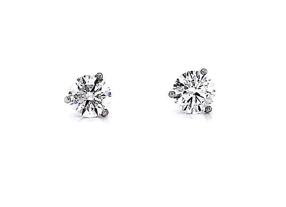 14kt White Gold 1.57ctw Round Diamond Stud Earrings