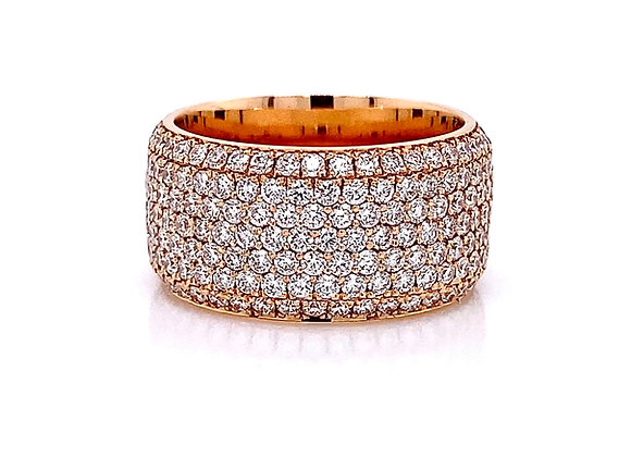 18kt Rose Gold 2.28ctw Round Diamond Band