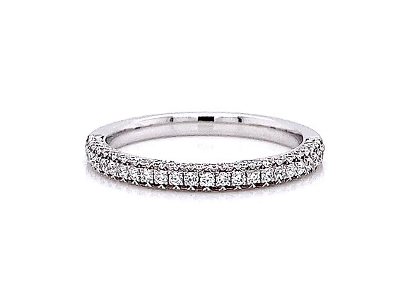 14kt White Gold 0.38ctw Round Diamond Band