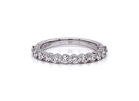 14kt White Gold 0.54ctw Round Diamond Band