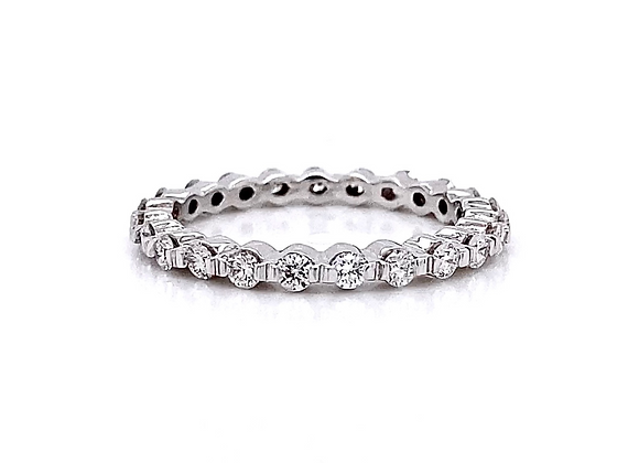 14kt White Gold 0.77ctw Round Diamond Band