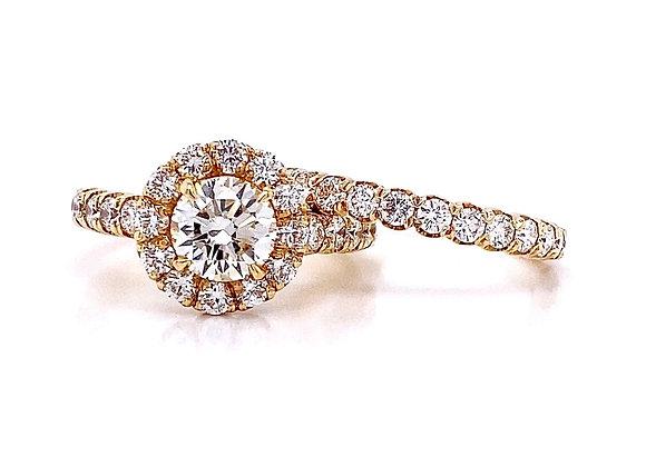 14kt Yellow Gold 2.48ctw Round Diamond Wedding Set