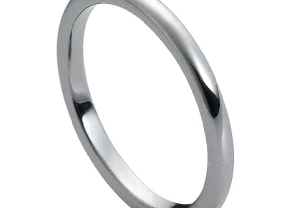 Gray Tungsten High Polished Gents Skinny Band