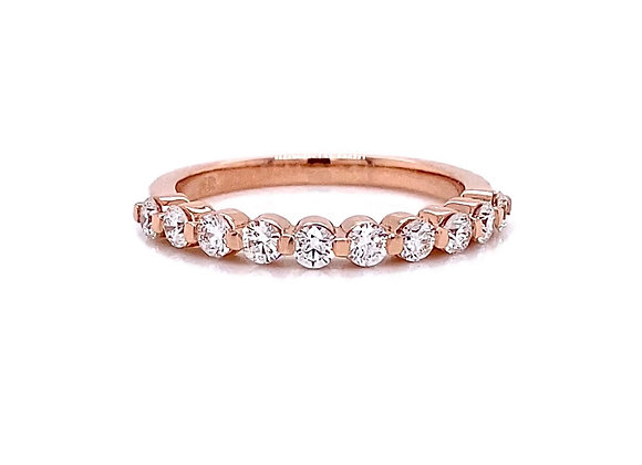 14kt Rose Gold 0.53ctw Round Diamond Band