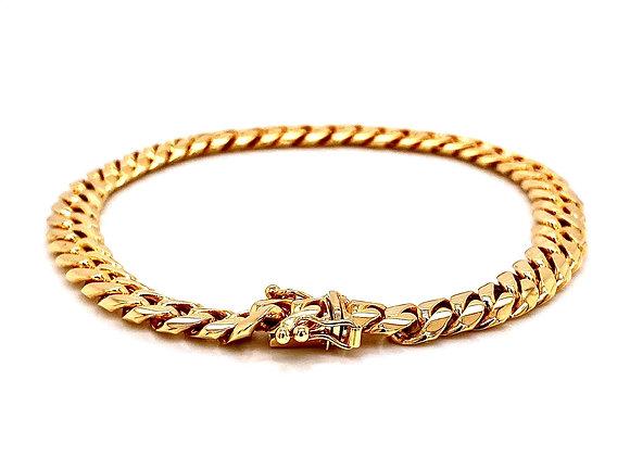 "14kt Yellow Gold 9"" 7.40mm Miami Cuban Box Clasp Bracelet"