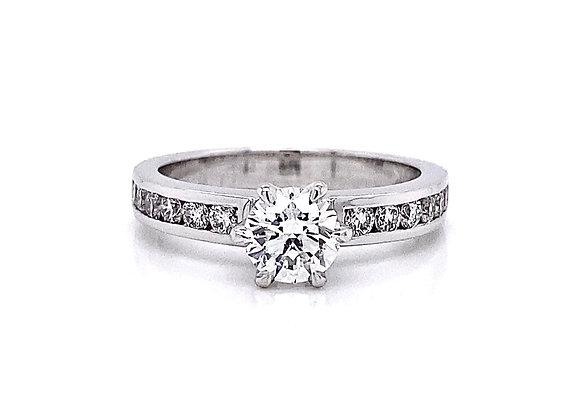 14kt White Gold 1.11ctw Round Diamond Ring