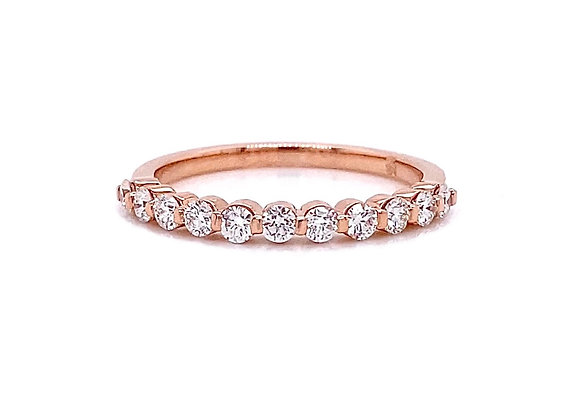 14kt Rose Gold 0.44ctw Round Diamond Band