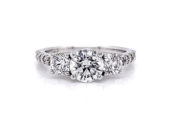 14kt White Gold 2.27ctw Round Diamond Wedding Set