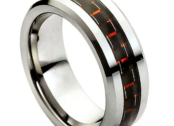 Gray Tungsten Carbon Fiber Gents Band