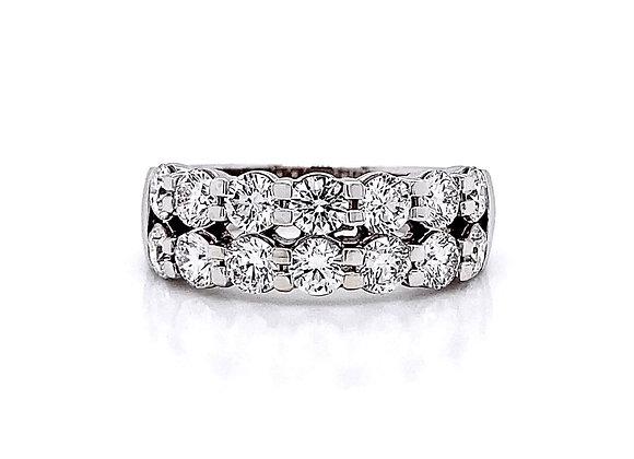 14kt White Gold 1.91ctw Round Diamond Band