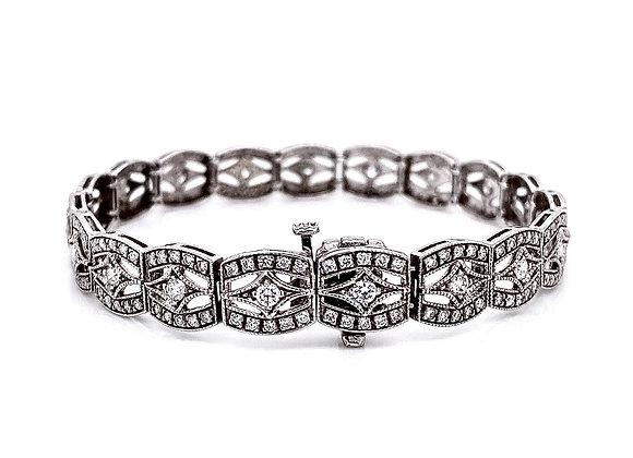 14kt White Gold 2.11ctw Round Diamond Bracelet