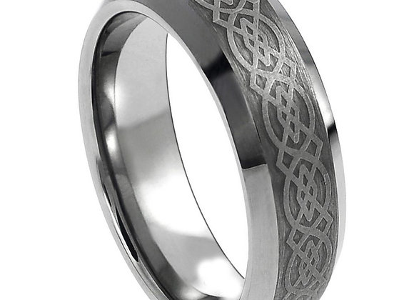 Gray Tungsten Celtic Gents Band