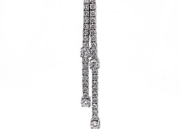 14kt White Gold 3.56ctw Dangle Earrings
