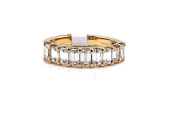 18kt Yellow Gold Ladies 1.33ctw Emerald Cut Diamond Band