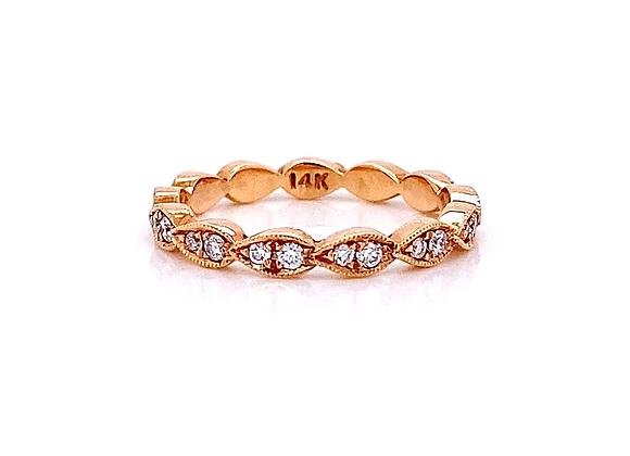 14kt Rose Gold 0.30ctw Round Diamond Band