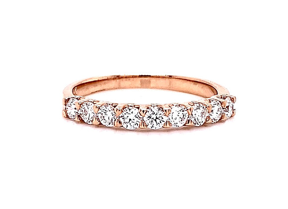 14kt Rose Gold 0.59ctw Round Diamond Band