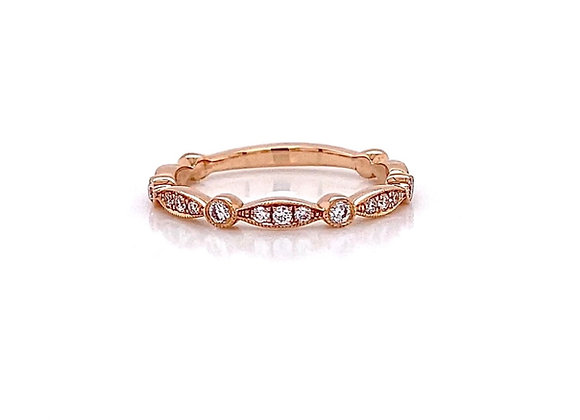 14kt Rose Gold 0.24ctw Round Diamond Band