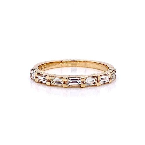 14kt Yellow Gold 0.60ctw Baguette Cut Diamond Band