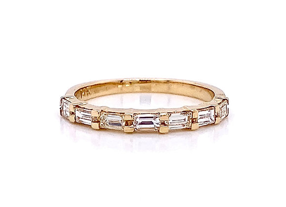 14kt Yellow Gold 0.60ctw Baguette Cut Diamond Band