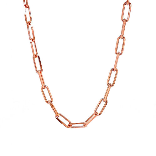 """14kt Rose Gold 22"""" 4.2mm Paperclip Chain"""
