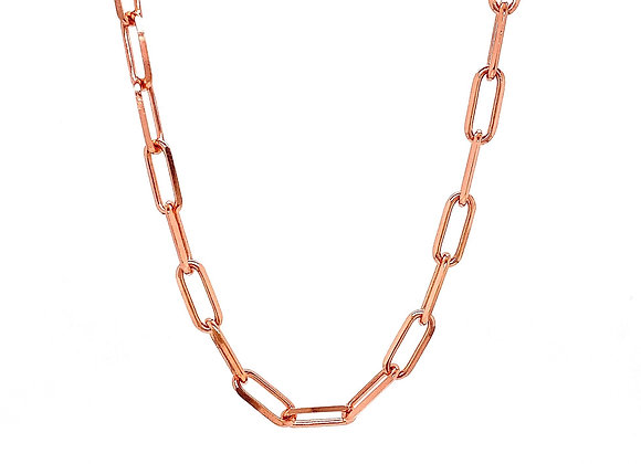 "14kt Rose Gold 22"" 4.2mm Paperclip Chain"