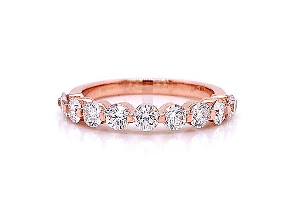14kt Rose Gold 1.02ctw Round Diamond Band