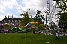 Large bubble in park