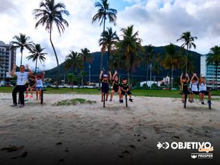 Educação Física na praia