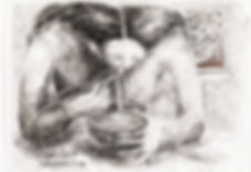 Claudio Coltorti Study for a figure eati
