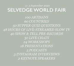 SELVEDGE WORLD FAIR