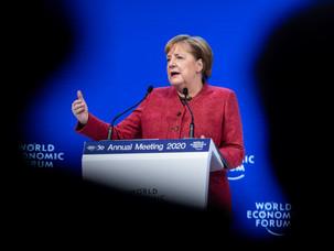 """Merkel addresses global challenges at WEF: """"Es gibt nichts Gutes. Außer man tut es."""""""