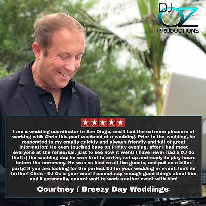 Dj Oz Yelp Courtney Breezy Day Weddings