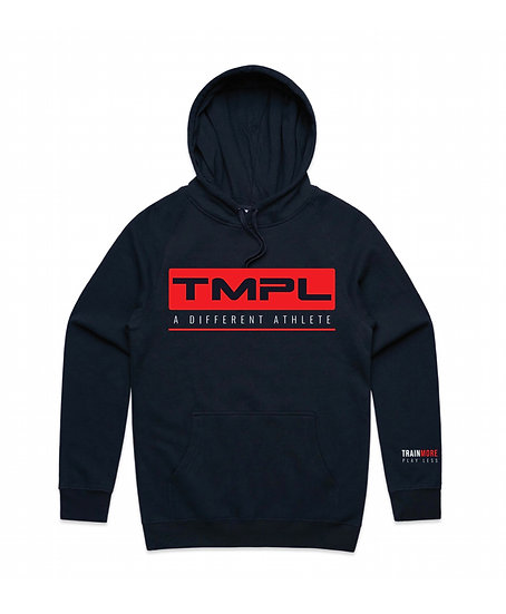 """TMPL """"A Different Athlete"""" Hoodie Red/Navy"""