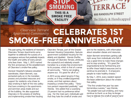Clearview Terrace Celebrates 1st Smoke-Free Anniversary