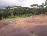 Sedm barev země v oblasti Chamarel