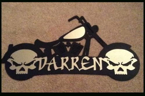 Custom Biker Metal Art With Name