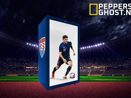 PEPPER'S GHOST 3DWOW!BOX ontwikkeld een innovatieve ontvangst toepassing voor de stadions van Europa