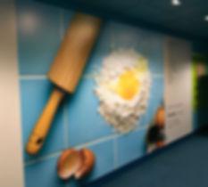 Egg Mural, Sydney Poland Studios, Columbia College Chicago