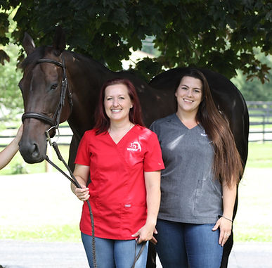 Dr. Dinah Skorich, Jessica Deer, equine chiropractic, equine acupuncture, horse rehabilitation
