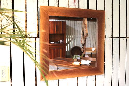 Mirror /walnut Vivo仕上げ640×640 mm(外寸)No.4
