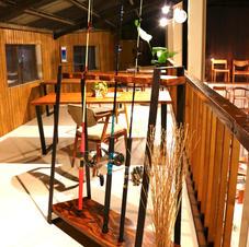 Rod stand/Zebra wood×iron/D1000×D400 H1200mm  ¥60,500-(in Tax)