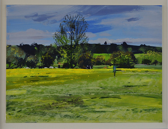 A Walk by the River, Dedham  - SOLD