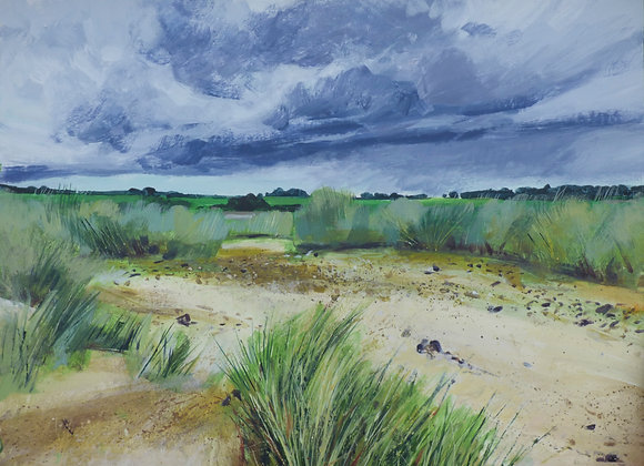 Storm behind Cove hythe dunes