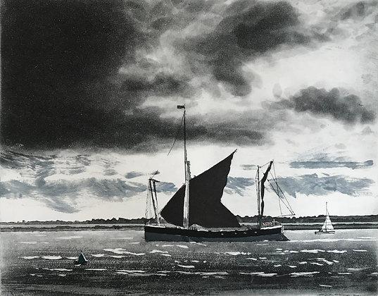 Maldon Barge, High Tide