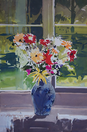 Flowers in a Vase - SOLD