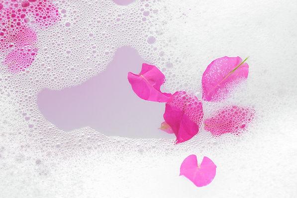 Flower bath in the spa - closeup picture