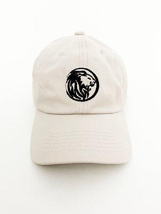 Lion Badge Cap- Beige