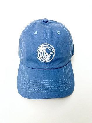 Lion Badge Cap- Denim Blue