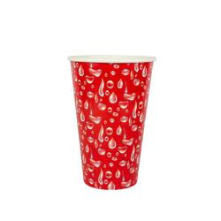 copo 500 ml vermelho gotas