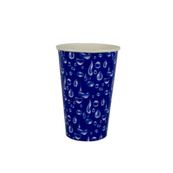 copo 180 ml azul gotas